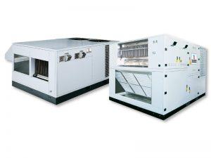 Автономная установка для обработки воздуха на конденсатном газе / с тепловым насосом ROOF TOP с модуляцией теплопроизводительности