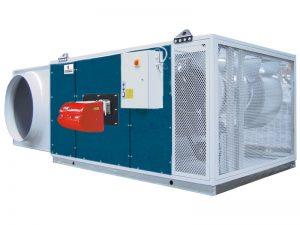 Горизонтальные теплогенераторы для теплиц с подачей воздуха ну уровне земли TCO-DF